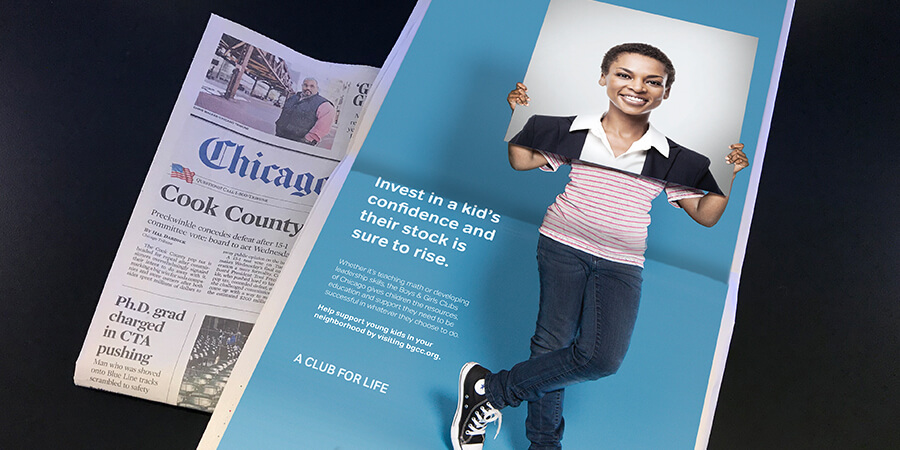 Boys and Girls Club of Chicago newspaper ad